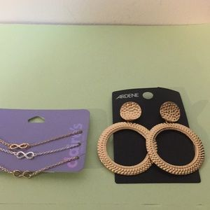 Claire's bracelets NEW and Ardene earrings NEW